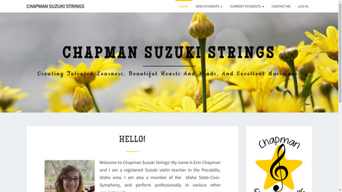 Screenshot of chapman suzuki strings home page