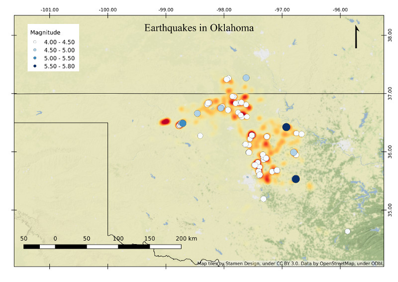 Qgis Tutorial – Earthquakes in Oklahoma – Tucker Chapman